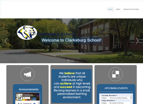 Image of Clarksburg School website